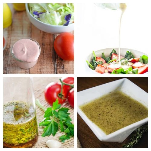 20 Homemade Salad Dressing Recipes- Making your own salad dressing is an easy way to add healthy flavor to your favorite salads! For inspiration, check out these drool-worthy homemade salad dressings! | DIY salad dressing, #homemadeSaladDressing #diySaladDressing #recipe #homemade #ACultivatedNest