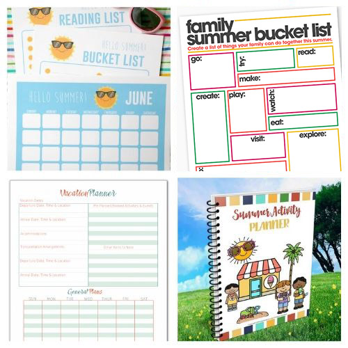 20 Free Summer Planner Printables- Plan for the best summer ever with this list of free printable summer planners! Use them to organize your days so you'll have plenty of time for summer fun! | #planner #freePrintable #summer #freePrintables #ACultivatedNest