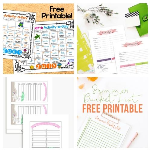 20 Free Printable Planners for Summer- Plan for the best summer ever with this list of free printable summer planners! Use them to organize your days so you'll have plenty of time for summer fun! | #planner #freePrintable #summer #freePrintables #ACultivatedNest