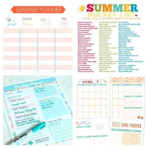 20 Free Printable Family Summer Planners- Plan for the best summer ever with this list of free printable summer planners! Use them to organize your days so you'll have plenty of time for summer fun! | #planner #freePrintable #summer #freePrintables #ACultivatedNest