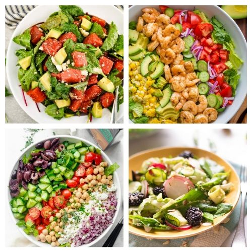 20 Easy Salad Recipes- You are going to love these incredible summer salads for every occasion! They are perfect for parties, get-togethers, and dinner! | #recipe #salad #healthyRecipes #summerRecipes #ACultivatedNest