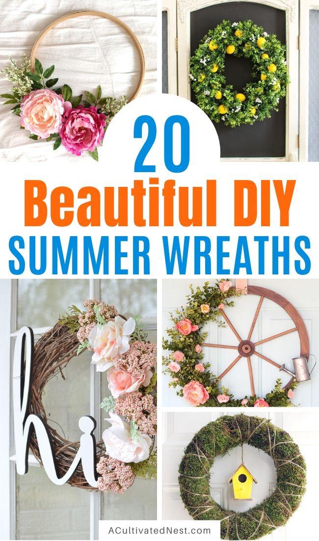 20 Beautiful DIY Summer Wreaths