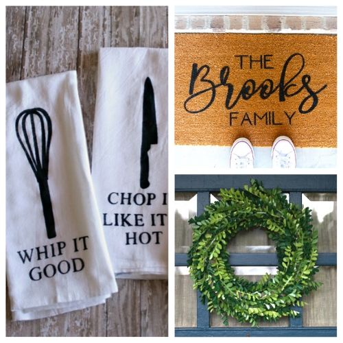 The 20 Best Cricut DIY Decor Projects- We have the ultimate list of the best Cricut DIY decor projects for you! They are a blast to work on and will add charm to your home!   Cricut Projects for your home, home decor DIYs, #cricut #cricutDIY #diyProjects #cricutProjects #ACultivatedNest
