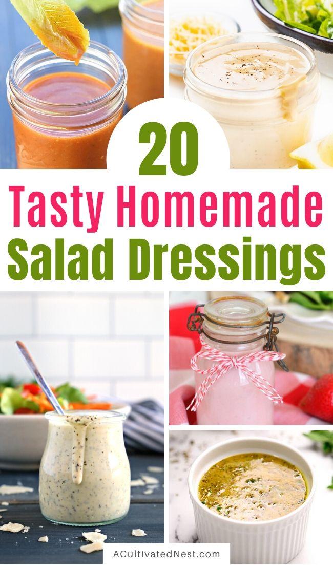20 Drool-Worthy Homemade Salad Dressings