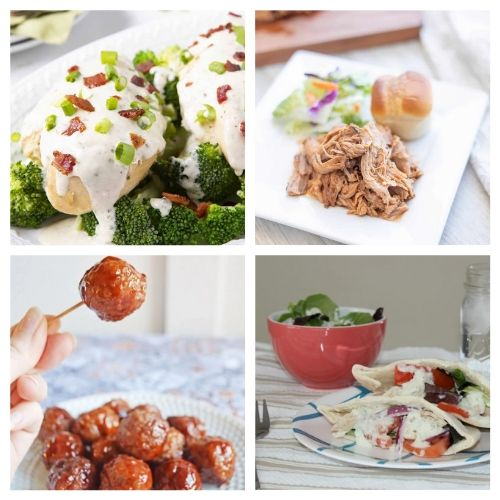 20 Summer Crock-Pot Recipes- Enjoy any of these summer slow cooker recipes without heating up your house! They are all delicious and make lovely dinner options!   chicken recipes, dinner ideas, #slowCooker #crockPot #dinnerRecipes #chickenRecipes #ACultivatedNest