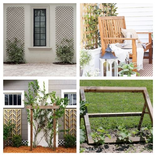 20 Gorgeous DIY Trellises- Add some charm and character to your yard with these gorgeous DIY garden trellises! They're functional and a lovely way to decorate your garden! | #DIY #garden #trellis #gardenDIY #ACultivatedNest