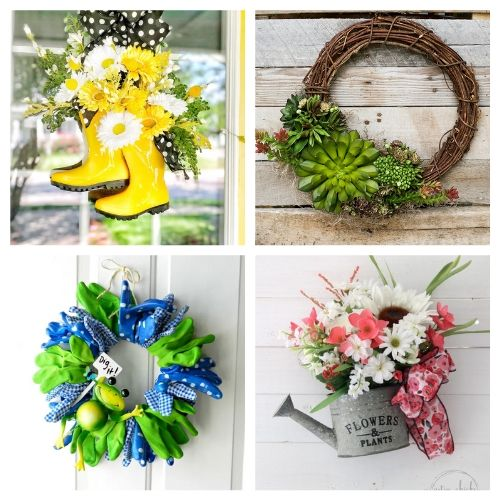 20 Lovely Summer Garden Wreath Crafts- These DIY summer garden wreaths are lovely and will be so inviting and welcoming! Make them as homemade gifts or keep them for yourself! | #diy #wreaths #diyWreaths #crafts #ACultivatedNest