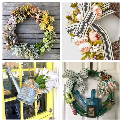 20 Lovely Summer Garden Wreath DIY Projects- These DIY summer garden wreaths are lovely and will be so inviting and welcoming! Make them as homemade gifts or keep them for yourself! | #diy #wreaths #diyWreaths #crafts #ACultivatedNest