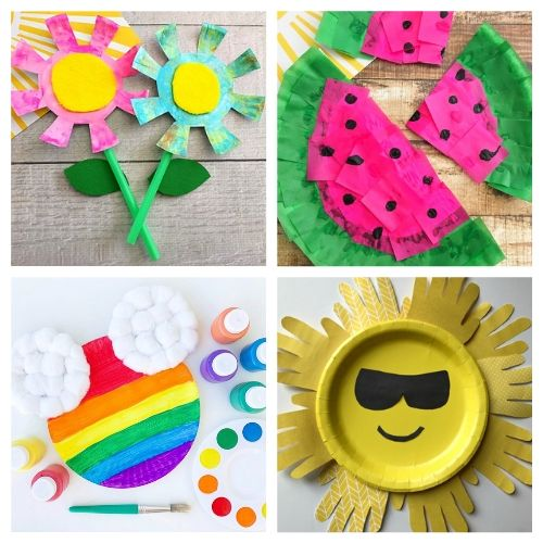 20 Summer Paper Plate Kids Crafts- If you need a fun and inexpensive way to keep the kids busy this summer, check out these adorable summer paper plate crafts for kids! | summer kids crafts, summer kids DIY projects, #kidsCrafts #paperPlateCraft #kidsActivities #kidsActivity #ACultivatedNest