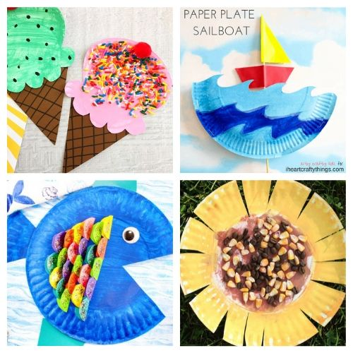 20 Paper Plate Summer DIYs for Kids- If you need a fun and inexpensive way to keep the kids busy this summer, check out these adorable summer paper plate crafts for kids! | summer kids crafts, summer kids DIY projects, #kidsCrafts #paperPlateCraft #kidsActivities #kidsActivity #ACultivatedNest