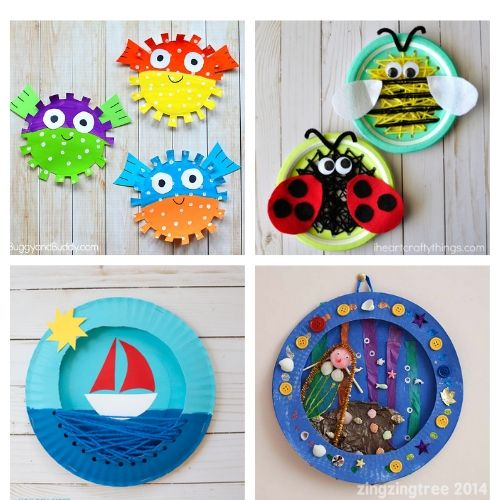 20 Paper Plate Summer Kids DIY Projects- If you need a fun and inexpensive way to keep the kids busy this summer, check out these adorable summer paper plate crafts for kids! | summer kids crafts, summer kids DIY projects, #kidsCrafts #paperPlateCraft #kidsActivities #kidsActivity #ACultivatedNest