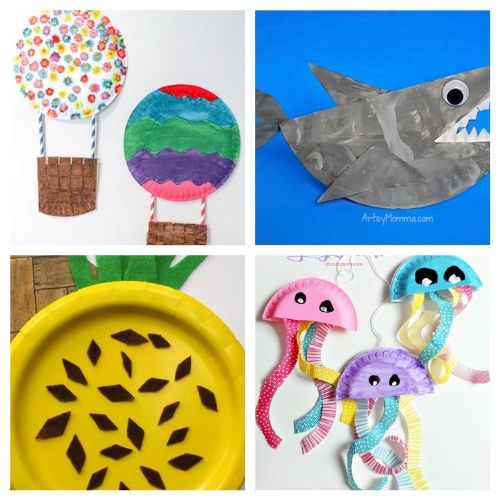20 Paper Plate Summer Kids Crafts- If you need a fun and inexpensive way to keep the kids busy this summer, check out these adorable summer paper plate crafts for kids! | summer kids crafts, summer kids DIY projects, #kidsCrafts #paperPlateCraft #kidsActivities #kidsActivity #ACultivatedNest