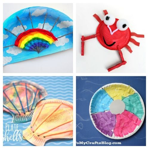 20 Paper Plate Summer Crafts for Kids- If you need a fun and inexpensive way to keep the kids busy this summer, check out these adorable summer paper plate crafts for kids! | summer kids crafts, summer kids DIY projects, #kidsCrafts #paperPlateCraft #kidsActivities #kidsActivity #ACultivatedNest