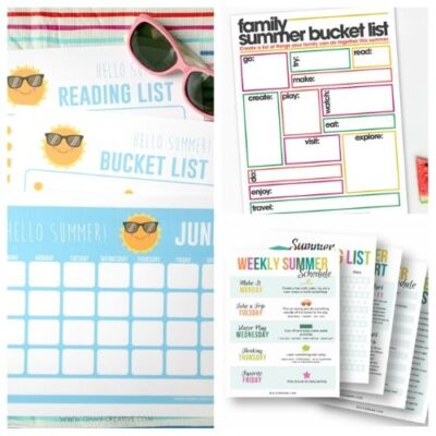 20 Free Printable Summer Planners