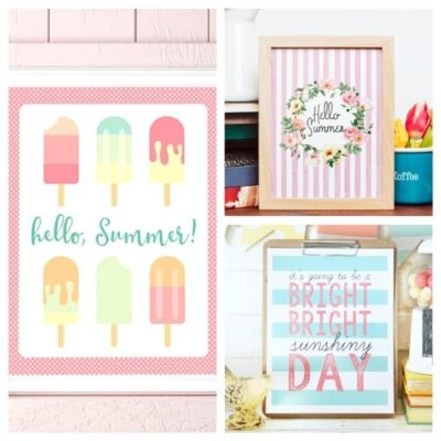 20 Free Summer Wall Art Printables