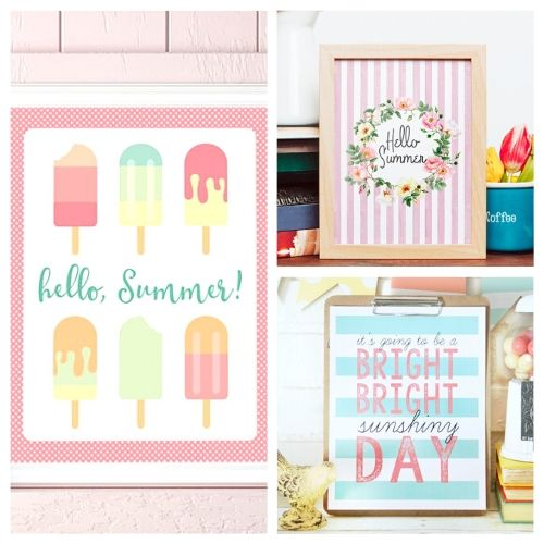 20 Free Summer Wall Art Printables- Use these free summer wall art printables to add some summer style to your home's decor on a budget! These adorable free printables are just what you need! | #freePrintables #printables #summer #wallArt #ACultivatedNest