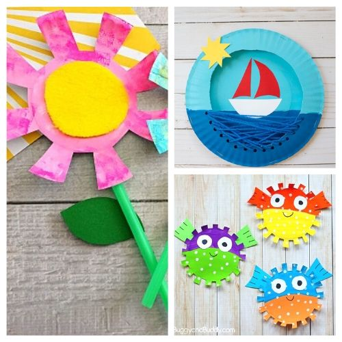 20 Summer Paper Plate Crafts for Kids- If you need a fun and inexpensive way to keep the kids busy this summer, check out these adorable summer paper plate crafts for kids! | summer kids crafts, summer kids DIY projects, #kidsCrafts #paperPlateCraft #kidsActivities #kidsActivity #ACultivatedNest