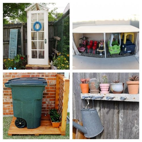 20 Creative Backyard Organization Ideas- Get everything in order with these creative backyard organizing ideas! You can get your yard neat and tidy with these storage tips and hacks! | #organizingTips #organization #backyard #organize #ACultivatedNest