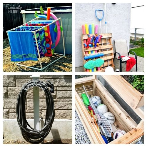 20 Creative Backyard DIY Organizers- Get everything in order with these creative backyard organizing ideas! You can get your yard neat and tidy with these storage tips and hacks! | #organizingTips #organization #backyard #organize #ACultivatedNest