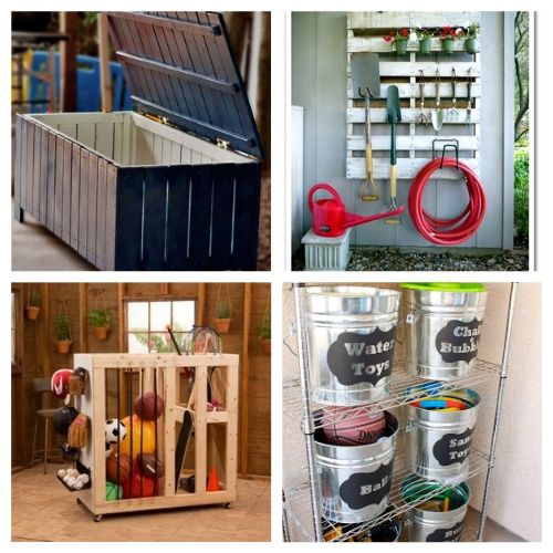 20 Creative Backyard Storage Ideas- Get everything in order with these creative backyard organizing ideas! You can get your yard neat and tidy with these storage tips and hacks! | #organizingTips #organization #backyard #organize #ACultivatedNest