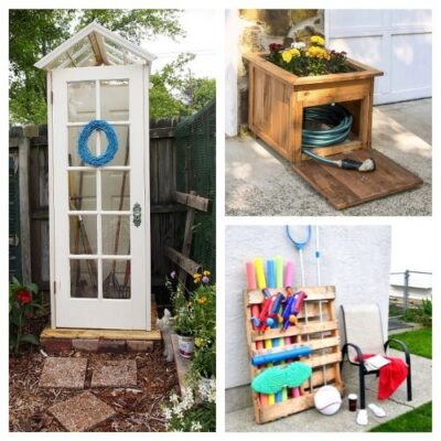 20 Creative Backyard Organizing Ideas - Get everything in order with these Creative Backyard Organizing Ideas. You can have your yard in the best place possible with these tips and hacks. #ACultivatedNest