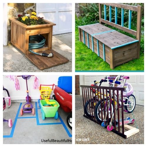 20 Creative Backyard Organization Solutions- Get everything in order with these creative backyard organizing ideas! You can get your yard neat and tidy with these storage tips and hacks! | #organizingTips #organization #backyard #organize #ACultivatedNest