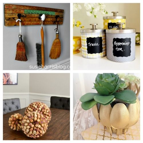 20 Creative Upcycled Decor DIYs- These creative upcycled DIY decor ideas are a blast to make, and are a great way to repurpose items you'd throw out! | repurposed decor projects, #upcycle #repurpose #reuse #diyProject #ACultivatedNest
