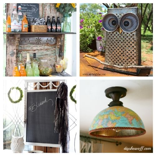 20 Creative Recycled DIY Decor Ideas- These creative upcycled DIY decor ideas are a blast to make, and are a great way to repurpose items you'd throw out! | repurposed decor projects, #upcycle #repurpose #reuse #diyProject #ACultivatedNest