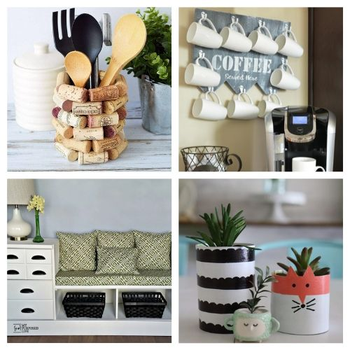 20 Creative Upcycled Decor Ideas- These creative upcycled DIY decor ideas are a blast to make, and are a great way to repurpose items you'd throw out! | repurposed decor projects, #upcycle #repurpose #reuse #diyProject #ACultivatedNest