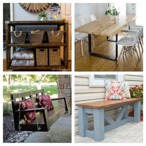 20 Wood Furniture DIY Décor- These 20 magnificent DIY wood furniture ideas will help you update your home's décor on a budget! There are so many great ideas to try! | #DIY #diyProjects #diyFurniture #diyDecor #ACultivatedNest