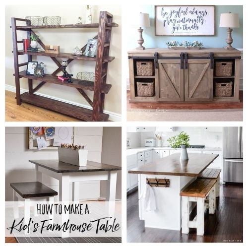 20 Wood Furniture DIY Décor Ideas- These 20 magnificent DIY wood furniture ideas will help you update your home's décor on a budget! There are so many great ideas to try! | #DIY #diyProjects #diyFurniture #diyDecor #ACultivatedNest