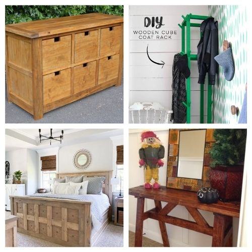 20 Wood Furniture Projects- These 20 magnificent DIY wood furniture ideas will help you update your home's décor on a budget! There are so many great ideas to try! | #DIY #diyProjects #diyFurniture #diyDecor #ACultivatedNest