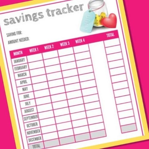Free Printable Savings Tracker- These fabulous free printable savings trackers will help you get your finances in order and ready for whatever you are saving for! | #savingsTracker #saveMoney #moneySavingTips #freePrintables #ACultivatedNest