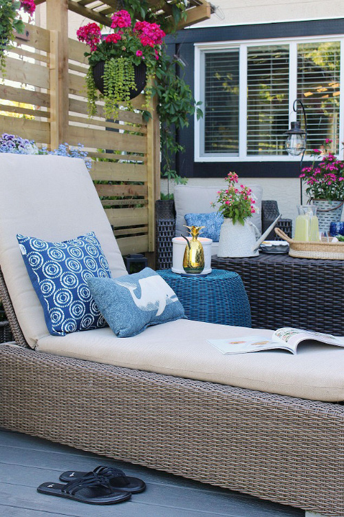Clean Your Outdoor Cushions- Your yard is going to look fabulous with these brilliant backyard cleaning tips! It will be ready for entertaining, sipping on sweet tea, or resting. | how to clean your patio, how to clean your fence, how to clean your backyard, #cleaningTips #cleaning #backyard #yard #ACultivatedNest