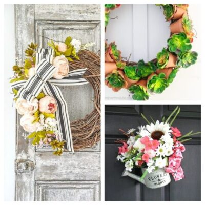 20 Lovely DIY Summer Garden Wreaths