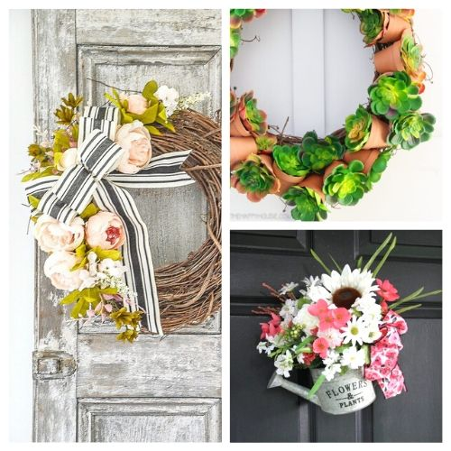 20 Lovely DIY Summer Garden Wreaths- These DIY summer garden wreaths are lovely and will be so inviting and welcoming! Make them as homemade gifts or keep them for yourself! | #diy #wreaths #diyWreaths #crafts #ACultivatedNest