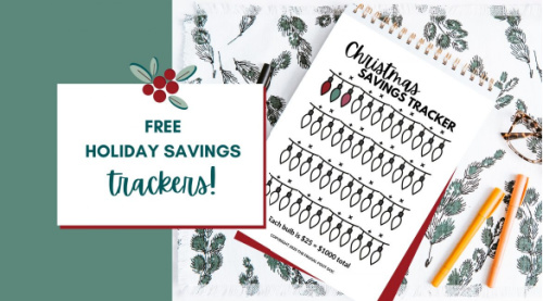 Free Christmas Savings Tracker- These fabulous free printable savings trackers will help you get your finances in order and ready for whatever you are saving for! | #savingsTracker #saveMoney #moneySavingTips #freePrintables #ACultivatedNest