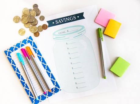 Printable Savings Goal Tracker- These fabulous free printable savings trackers will help you get your finances in order and ready for whatever you are saving for! | #savingsTracker #saveMoney #moneySavingTips #freePrintables #ACultivatedNest