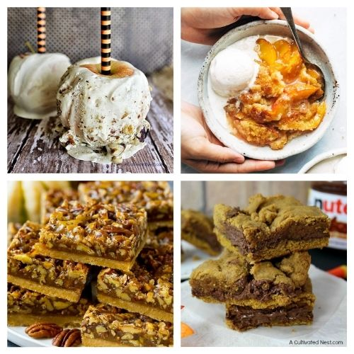 20 Delicious Desserts to Make This Fall- These drool-worthy festive fall dessert recipes will complete your dessert table and please your taste buds. They all taste delicious, and are easy to make! | fall pumpkin dessert recipes, fall food, #recipe #dessertRecipe #fallRecipe #fallDessert #ACultivatedNest