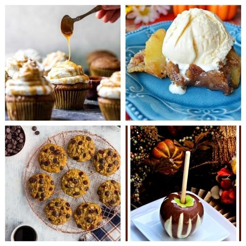 20 Festive Dessert Recipes for Autumn- These drool-worthy festive fall dessert recipes will complete your dessert table and please your taste buds. They all taste delicious, and are easy to make! | fall pumpkin dessert recipes, fall food, #recipe #dessertRecipe #fallRecipe #fallDessert #ACultivatedNest
