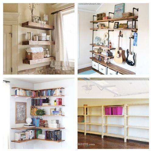 12 DIY Shelving Projects- If you want to make your home neat and tidy, you ned the right shelving! Here are 12 DIY shelves to get you organized! | #homeOrganization #organizingTips #DIY #shelves #ACultivatedNest