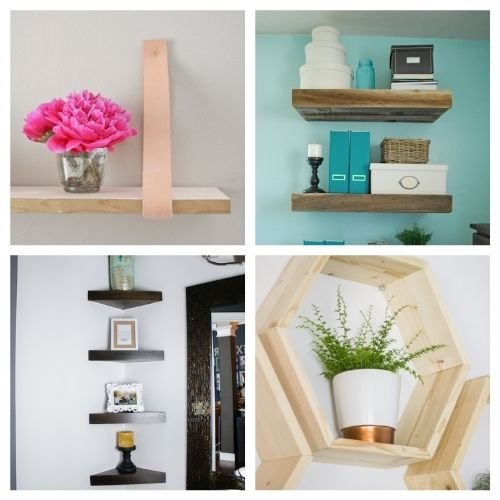 12 DIY Shelves to Make to Organize Your Home- If you want to make your home neat and tidy, you ned the right shelving! Here are 12 DIY shelves to get you organized! | #homeOrganization #organizingTips #DIY #shelves #ACultivatedNest