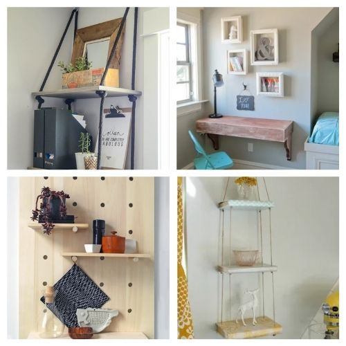 12 DIY Shelving Organization Solutions- If you want to make your home neat and tidy, you ned the right shelving! Here are 12 DIY shelves to get you organized! | #homeOrganization #organizingTips #DIY #shelves #ACultivatedNest