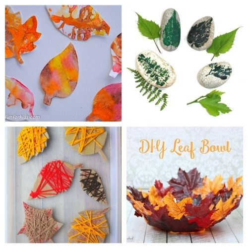 20 Creative Autumn Leaf Kids Crafts- These creative fall leaf kids crafts are great for kids of all ages! You just need some basic supplies and can begin making memories! | #crafts #kidsCrafts #fallCrafts #kidsActivities #ACultivatedNest