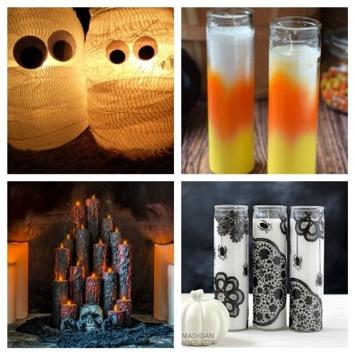 20 Spooky Homemade Candles for Halloween- These spooky DIY Halloween candles are exactly what your home needs. They are fun to make and creepy enough to add some flair to your space! | #Halloween #diyProjects #diyCandles #HalloweenCrafts #ACultivatedNest