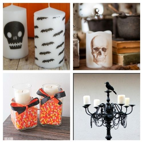 20 Spooky Halloween Candle DIYs- These spooky DIY Halloween candles are exactly what your home needs. They are fun to make and creepy enough to add some flair to your space! | #Halloween #diyProjects #diyCandles #HalloweenCrafts #ACultivatedNest