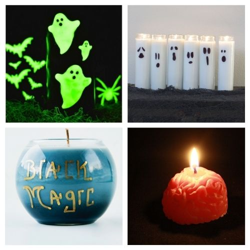 20 Spooky Halloween Candles You Can Make- These spooky DIY Halloween candles are exactly what your home needs. They are fun to make and creepy enough to add some flair to your space! | #Halloween #diyProjects #diyCandles #HalloweenCrafts #ACultivatedNest