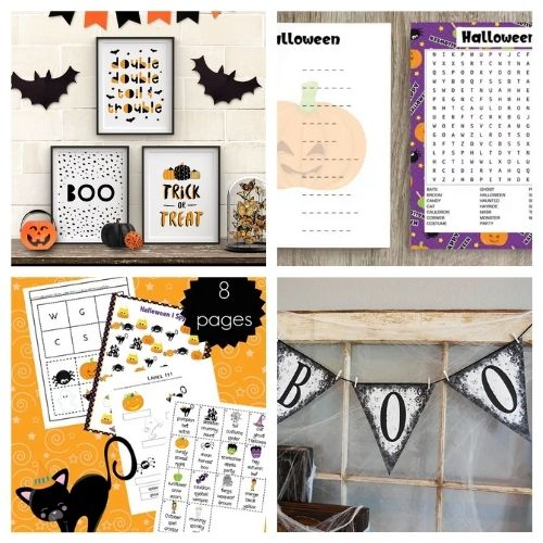 20 Halloween Free Printable Wall Artworks and Activities- These spooky Halloween free printables are the perfect way to update your décor for Halloween, or find fun free activities for your kids! | #freePrintables #Halloween #HalloweenPrintables #kidsActivities #ACultivatedNest