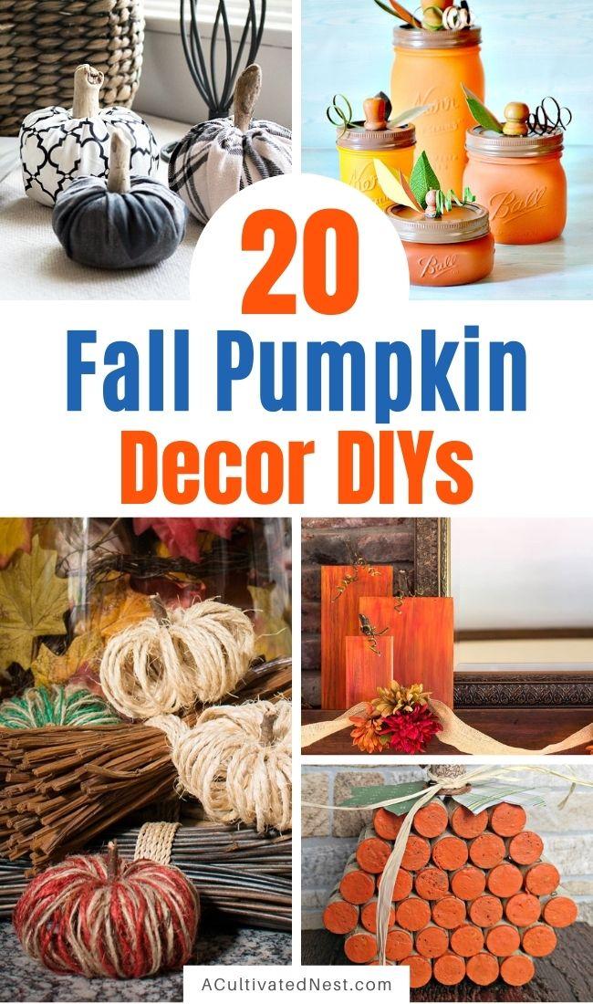 20 Beautiful Fall Pumpkin Decor DIYs