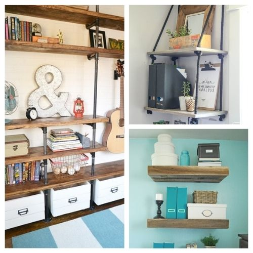 12 DIY Shelves to Get You Organized- If you want to make your home neat and tidy, you ned the right shelving! Here are 12 DIY shelves to get you organized! | #homeOrganization #organizingTips #DIY #shelves #ACultivatedNest
